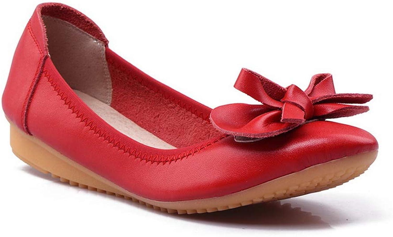 BalaMasa Womens Bows Ornamented Structured Urethane Walking shoes APL10695