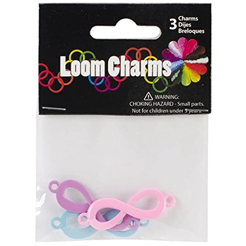 Touch of Nature 3-Piece Loom Band Charms Pastel Infinity Assorted, Light Pink/Light Purple/Light Blue