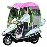 ZZZR Paraguas de Scooter de Motor Completamente Cerrado Movilidad Parasol y Cubierta de Lluvia Impermeable, Universal