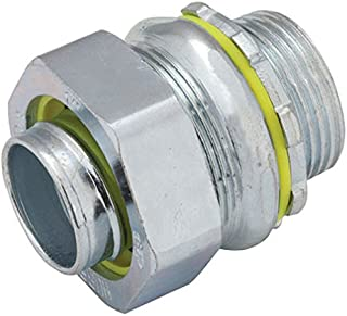 Hubbell-Raco 3405-8 Connector, Liquid Tight, Straight, Flex and Type B Flex, Uninsulated, 1-1/4-Inch