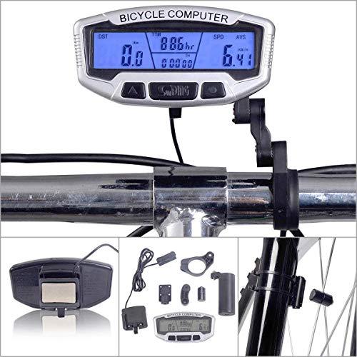 SH-RuiDu Direct Store Fiets-snelheidsmeter, mountainbike, kilometerteller, paardrijden, accessoires, achtergrondverlichting, LCD-display, werkt op batterijen