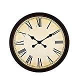 Reloj de pared creativo para sala de estar, 20 pulgadas, negro