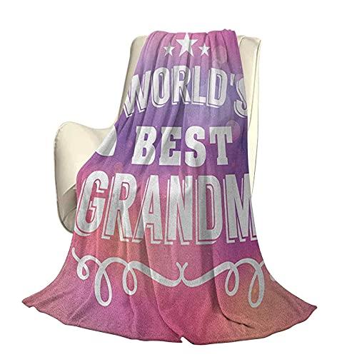 Grandma Fluffy Plush Soft Comfortable Warm blanketStars y Siluetas de corazón con patrón de líneas en Forma de Remolino sobre Fondo Bokeh Aire Acondicionado de Lujo Funda nórdica W60 x L50 I