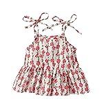 Jungen Mädchen Unisex KinderKleidung, Yanhoo Kleinkind Baby Bedruckte Oberteile Tassel Shorts Outfits Ärmellose Kinderblume Weste + Quaste Hairball Shorts