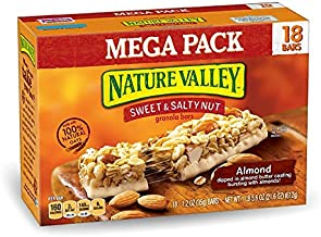 Nature Valley Granola Bars, Sweet and Salty Nut, Almond