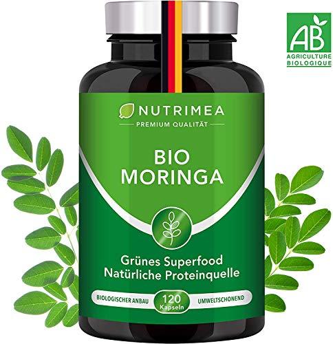 Moringa Kapseln Hochdosiert | Zertifizierte BIO-Qualität | 120 Energy Tabs VEGAN | 100{0a0e949a0ddd22c35cf1c5c8bcfc61ddae4d6f6298137873591f0e9f7ceecb5b} Reines Moringa Oleifera Blatt Pulver | SUPERFOOD Protein Glutenfrei Laktosefrei Eiweißpulver Body Fit