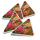 Pegatinas triangulares de vinilo (juego de 4) – Calcomanías divertidas para laptops, tabletas, equipajes, reservas, neveras #21150