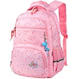 Vbiger School Bags for Girls Boys Lightweight Waterproof Lovely Cute School Backpacks for Primary Kids (Pink)