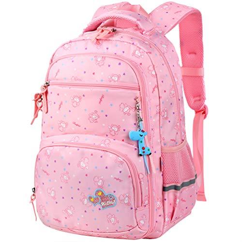 Vbiger Rucksack Mädchen Schulrucksack Kinder Rucksack Schultasche für mädchen (Pink)
