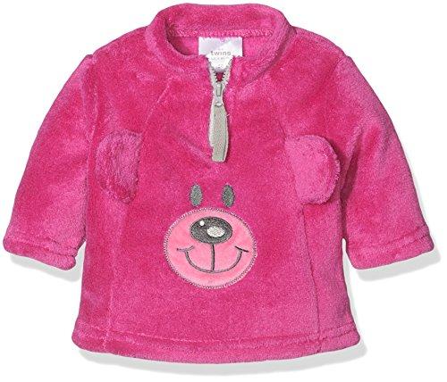 Twins Baby-Mädchen Fleece Pullover Teddybär, Violett (Lila 4004), 74