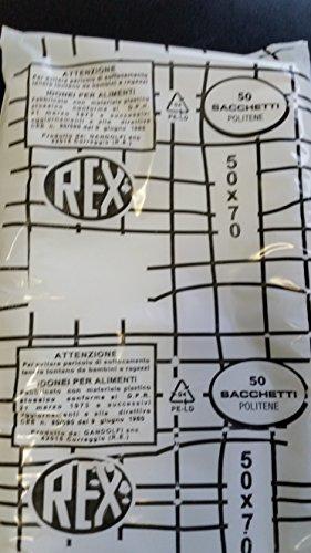 100 sacchetti politene Rex cm.50x70