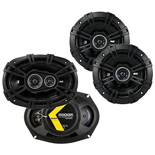 Kicker 43DSC69304 D Series 6x9 Inch 360 Watt 3 Way Dual Speakers with 43DSC504 D Series 5.25 Inch 200 Watt 4 Ohm 2 Way Car Audio Coaxial Dual Speakers