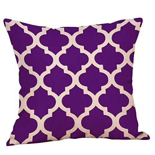 FeiliandaJJ Pillowcase, kissenhülle Kopfkissenbezug Home Dekoration Kissenbezug Lila Geometrie Streifen Super weich Sofakissen für Wohnzimmer Sofa Bed,45x45cm (B)