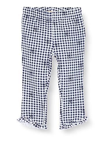 Chicco Leggings Pinocchietto Bimba Pantalones, Azul (BLU Bianco 086), 74 (Talla del Fabricante: 074) para Bebés