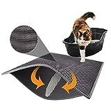 Longzhuo Double tapis de litière pour chat - Tapis de litière pour chat - Tapis de litière - Design alvéolé - Tapis étanche - Design nid d'abeille, gris, S-30*30 cm