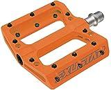 Exustar Freerider Easy - Pedal de Ciclismo Unisex para Adulto, Naranja, 110 x 105 mm