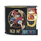 One Piece - Taza - Luffy Ruffy Vs Sabo - Taza de café - Ace - Efecto térmico Mug 460 ml - Caja de regalo