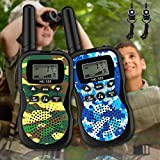 Kids Walkie Talkies Upgraded Version with Integrated Button 22 Channels 2 Way...