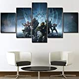 One Set 5 paneles Juego Poster Halo 5 Guardians Painting Modern Home Wall Decorative Canvas Picture Art Hd Print Modern Artworks(size 2)