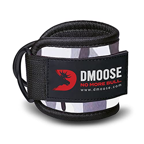 DMoose Fitness Ankle Strap for Cable Machines for Kickbacks, Glute Workouts, Leg Extensions, Curls, and Hip Abductors for Men and Women, Adjustable Neoprene Support