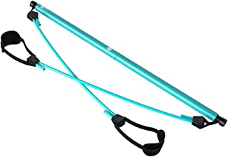 Yoga Pilates Stick Home Multi-Function Slimming Fitness Equipment Portable Female Stovepipe Elastic Rope QDDSP (Color : Blue)