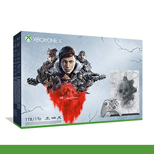 Xbox One X - Bundle Gears of War 5 Ultimate Edition - Inclusi Gears of War 2, 3, 4 + 1 Mese Live Gold + 1 Mese Gamepass - Limited Edition