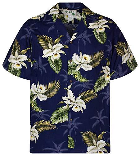 KY's Original Hawaiihemd, Enzian, dunkelblau, 3XL