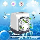 Jieer Enfriador de Aire, 3 en 1 Refrigerador de Aire Portátil Máquina de Aire Acondicionado Mini Humidificador Evaporativo Purificador Adecuado para Cabecera, Oficina y Sala de Estudio