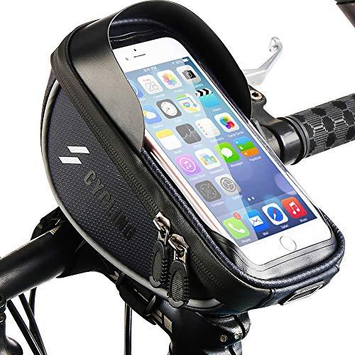 Fahrrad Handytasche, Wasserdicht Fahrradlenkertasche Handyhalterung Oberrohrtasche Fahrrad Handy Tasche Fahrradtasche Rahmentaschen für Handy GPS Navi und andere Edge bis zu 6 Zoll Geräte