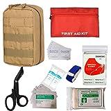 GRULLIN Bolsa de botiquín de Primeros Auxilios, Tactical MOLLE Medical IFAK Rip-Away EMT Pouch...