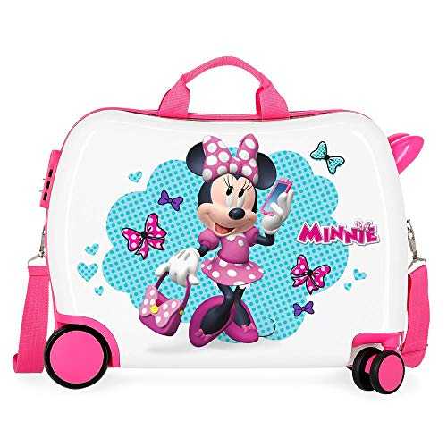 Disney Minnie Good Mood Maleta Infantil Multicolor 50x38x20 cms Rígida ABS Cierre combinación 34L 2,1Kgs 4 Ruedas Equipaje de Mano