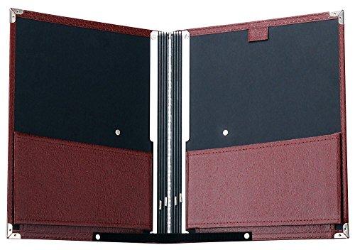 Classic Cantabile Notenmappe Standard Braun (stabiles Kunstleder, Handschlaufe, Noten bis DIN A4, Innentasche, Schutzecken)