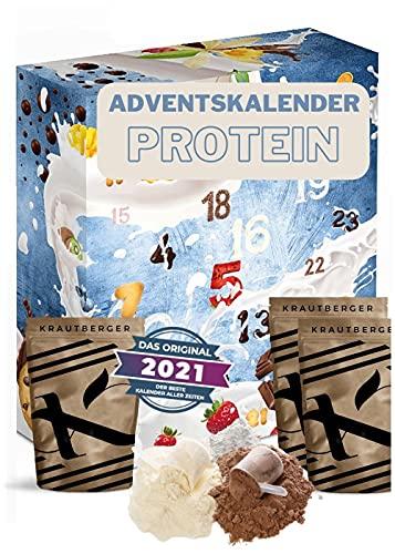 Protein Adventskalender 2021 I 24 x 20g verschiedene Proteinpulver
