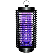 fomei Bug Zapper [Updated] Mosquito Killer Insect Trap Pest Control Light with Switch Button Electronic UV Lamp for Indoor Outdoor Bedroom, Kitchen, Office, Home