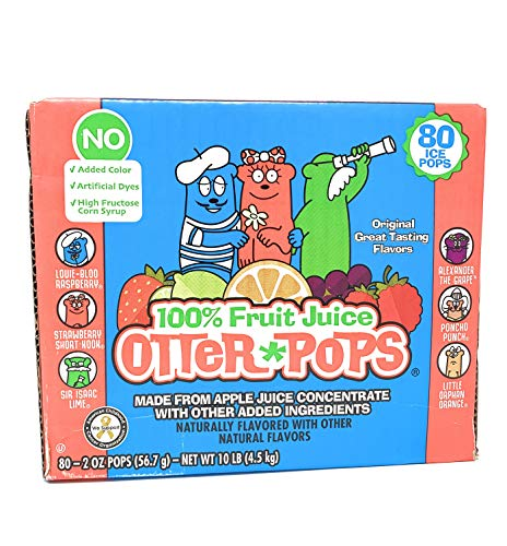 Otter Pops Juice, 2 oz 80-Count