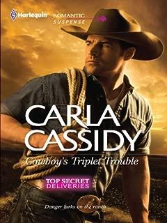 Cowboy's Triplet Trouble: A Western Romantic Suspense Novel (Top Secret Deliveries Book 6)