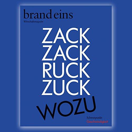 brand eins audio: Geschwindigkeit audiobook cover art