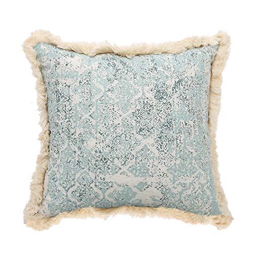 QXbecky Fundas de Cojines Almohada Cuadrada con mechones Impresos 1, 3 Piezas Funda de Almohada Decorativa Tejida con mechones de algodón de Encaje de sofá sin núcleo Interior 45 cm