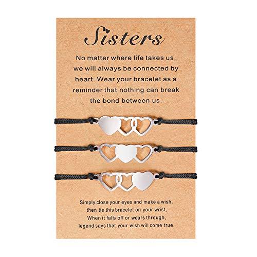 Cheerslife Bester Freund Armband Set für Frauen Mädchen Schwester Matching Armband Set für 3 Freundschafts schmuck Geschenk für BFF Schwester Bestie