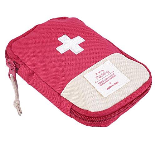 Lifesport Erste Hilfe Set, Erste-Hilfe-Koffer First Aid Kit Notfalltasche Medizinisch Tasche Klein kompakt Perfekt Design für Haus Auto Camping Jagd Reisen Natur und Sport (Rot)