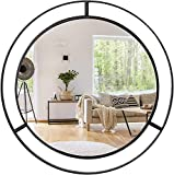 UMI. by Amazon Espejos de Pared Redondos Grandes con Anillo de Metal Circular...