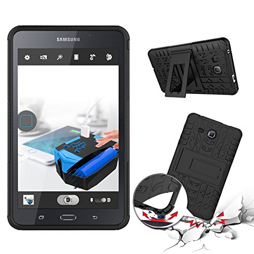Standard Tablet Cases Hot Koop Nieuwe Dual Layer Hybrid Armor Case Afneembare [Kickstand] 2 in 1 Personality beschermhoes Shockproof Tough Rugged Case Cover for Samsung Tab een 7,0 inch T280 tablet Ac