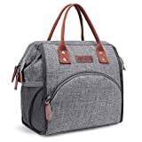 LOKASS Lunch Bag Insulated Lunch Box Wide-Open Lunch Tote Bag Large...
