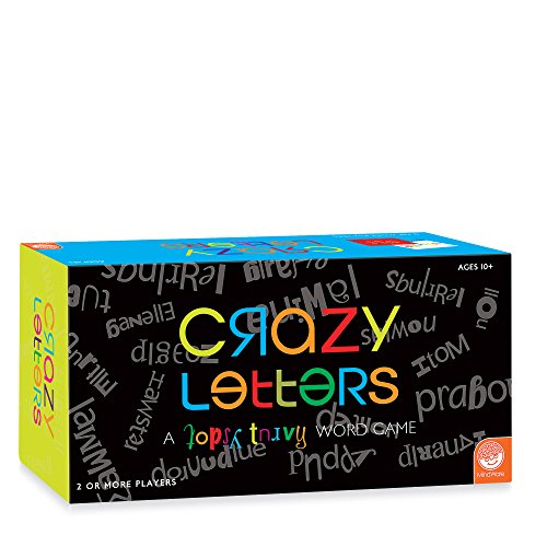 MindWare Crazy Letters  Family Card Game of Topsy-turvy Letters  550 Cards  Fun for Kids & Adults  Word Game for 2 or More Players, Ages 10+
