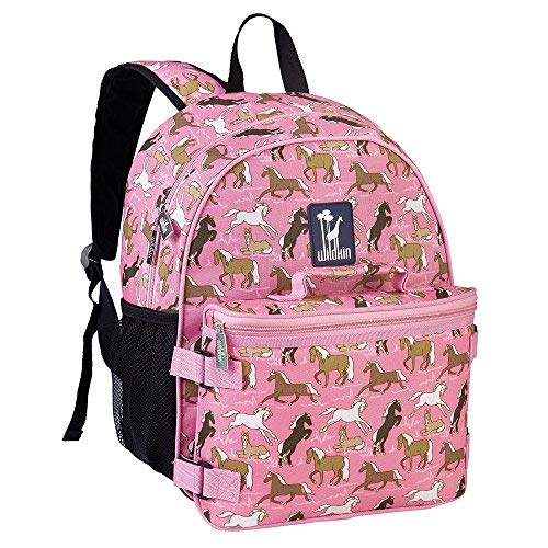 Wildkin Horses in Pink Bogo Backpack with Lunch Bag, One Size by Wildkin