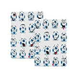 Sports Decor Case for New iPad Pro 12.9 Case 2020,Cartoon Soccer Ball with Many Expressions Bored Laughing Happy Smiley Face Print Folio Stand Case Smart Cover with Auto Sleep/Wake Supports iPad Penci