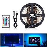 Lumière de LED USB, 5050 RGB 12V DC, Ruban de LED Bande Décorative D'intérieur LED pour des Arrière-plans de TV Lumière Barre de Voiture de Cuisine (5M)