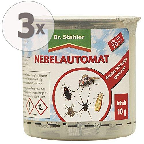 Dr. Stähler Nebelautomat gegen Schadinsekten Gardopia Sparpakete + Zeckenzange mit Lupe (3 Stück)