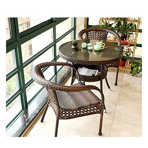 Conjunto de muebles de patio y silla de mimbre Rat Juego de muebles de jardín de ratán Muebles de patio Muebles de conservación Muebles Conjuntos Muebles de césped Familia Mesa de centro al aire libre