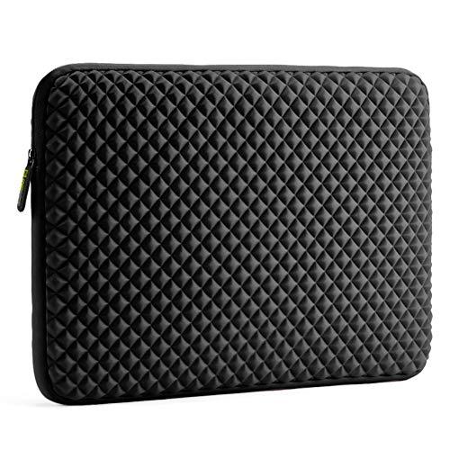 Laptop Sleeve Case Evecase 17-17.3 inch Diamond Foam Splash & Shock Resistant Neoprene Universal Case Bag for Chromebook Ultrabook Notebook - Black